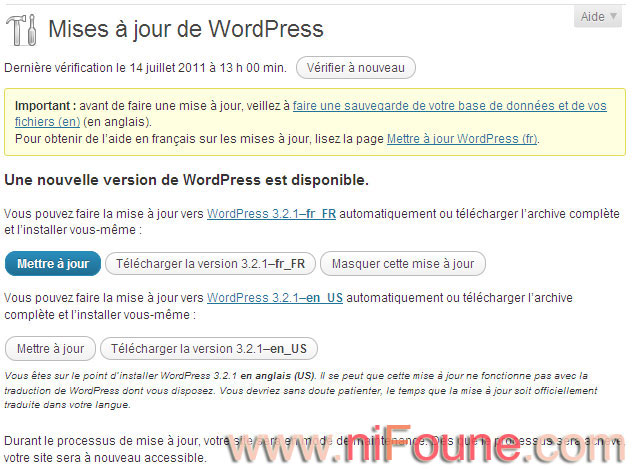 wordpress 3.2.1