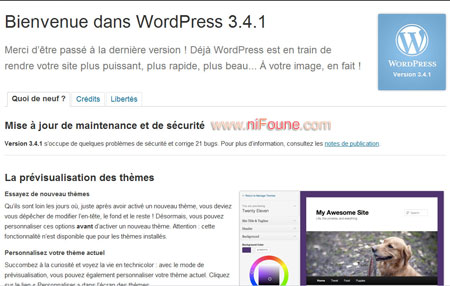 wordress 3.4.1