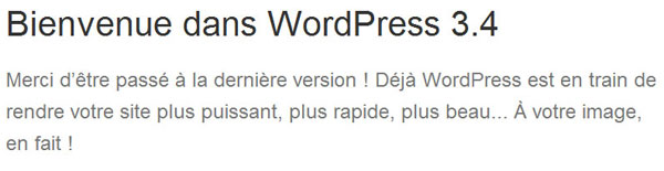 mise a jour wordpress 3.4