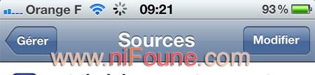 modifier sources