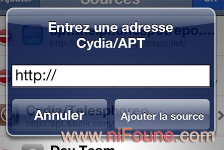 adresse cydia