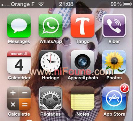 reglage iphone