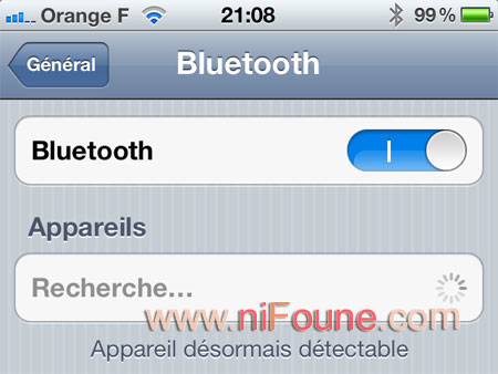 activation bluetooth iphone