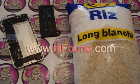 sac de riz cru