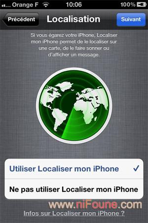 localisation iphone