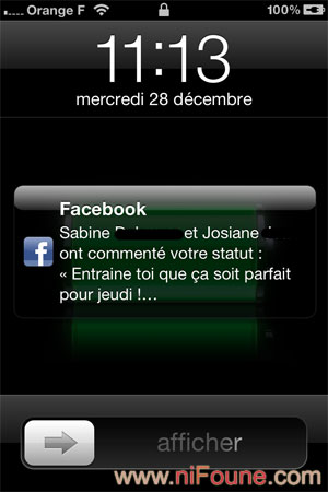facebook sur iphone