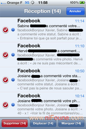 email sur iphone