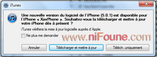 mise a jour iphone 5.0.1