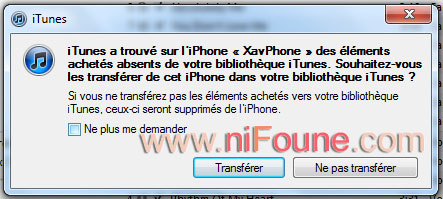 restauration des applications