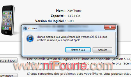 mise a jour iphone