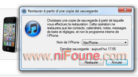 restauration iphone