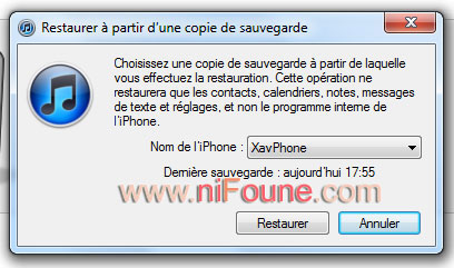restauration iphone 4.1