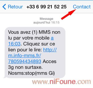 option sms iphone