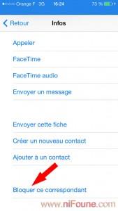 bloquer un expéditeur sur iPhone