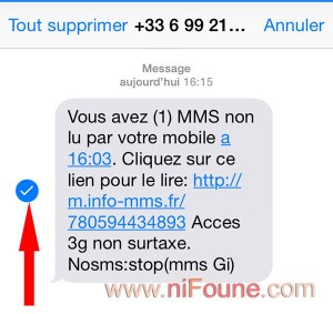 transfet sms sur iphone