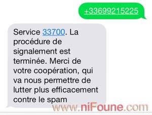 spam sms au 33700