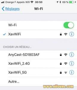 réglage wifi anycast